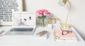 photo of an organized desk in a home office